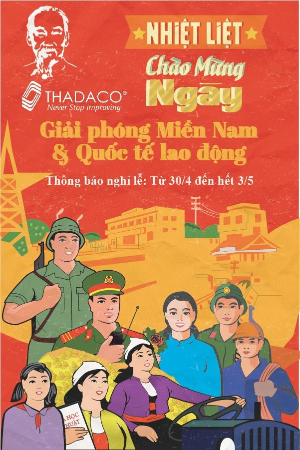 Thadaco thông báo lịch nghỉ Giỗ tổ và 30/4 - 1/5/2020