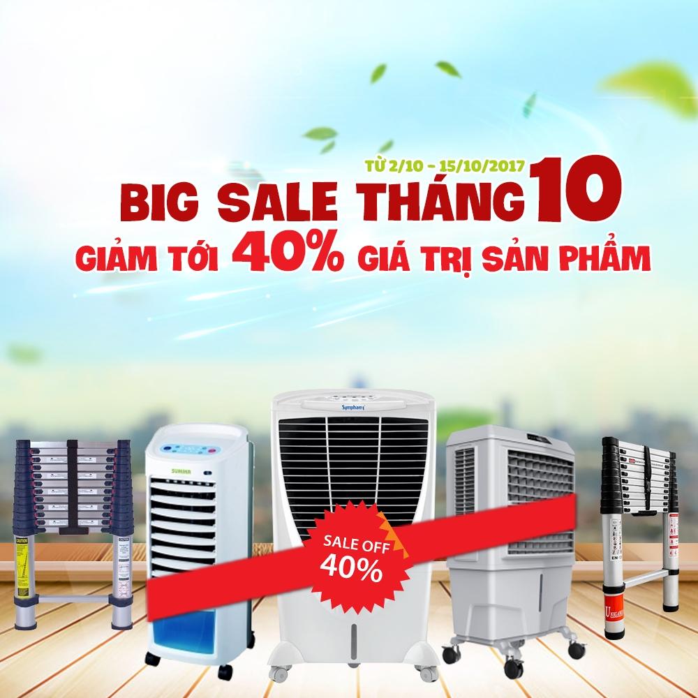 Thang nhôm & máy làm mát THADACO khuyến mại giảm đến 40% chào thu