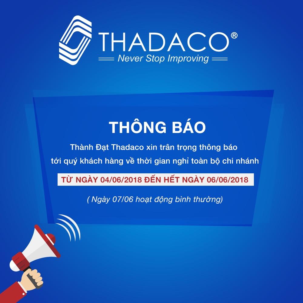 Thành Đạt Thadaco thông báo lịch nghỉ du lịch cả 2 miền dịp hè 2018