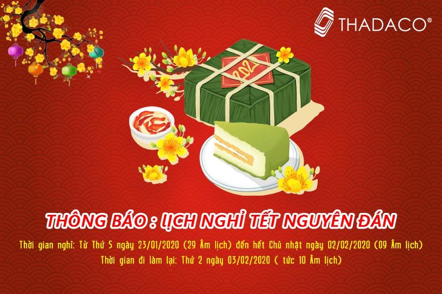 Thư cảm ơn và thông báo lịch nghỉ Tết 2020 từ Thành Đạt