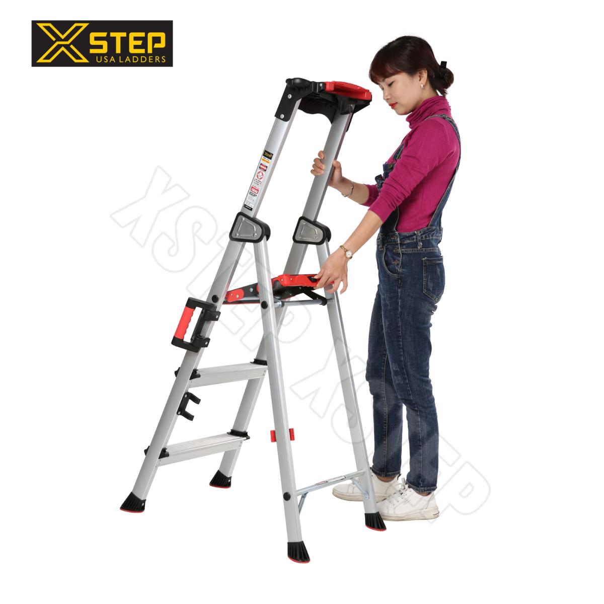 thang nhôm ghế xstep 3 bậc