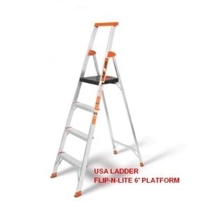 Thang nhôm ghế có tay vịn Little Giant Flip-N-Lite 6' Platform Ladder