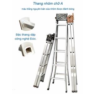 Thang nhôm hộp mâm trắng HM15