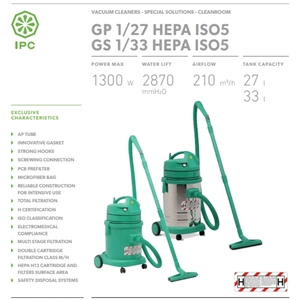 Máy hút bụi IPC GS 1/33 HEPA